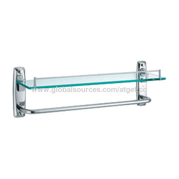 China Stainless steel glass shelf with towel bar on Global Sources