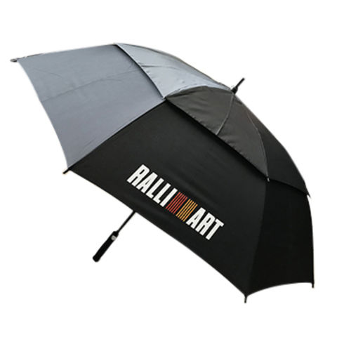 China Straight Auto Open Really Double Layer Advertising Umbrella All Fiber Frame Shaft