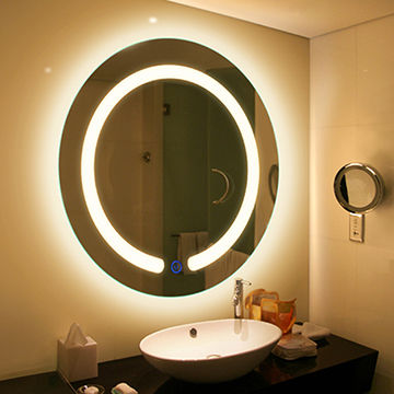 China Decorative Fancy Wall Mirror Lamp Ip44 Led Light Dimmable