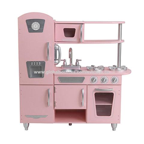 ... China 2018 Pink Wooden Modern Kitchen Toy Set