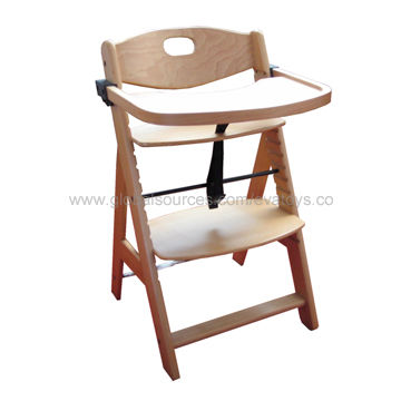 amazon high with cushion height wooden dp natural com chair padded baby highchair adjustable sepnine