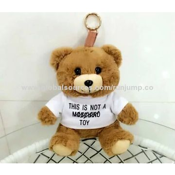 Plush Brown Teddy Bear with t-shirt Toy, Made of Soft Plush and PP Padding, for Promotions