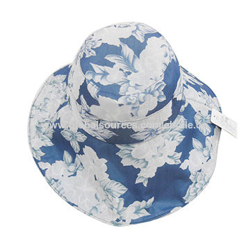 Cotton Floral Printed Sun Hats China Cotton Floral Printed Sun Hats de4345b9d7d