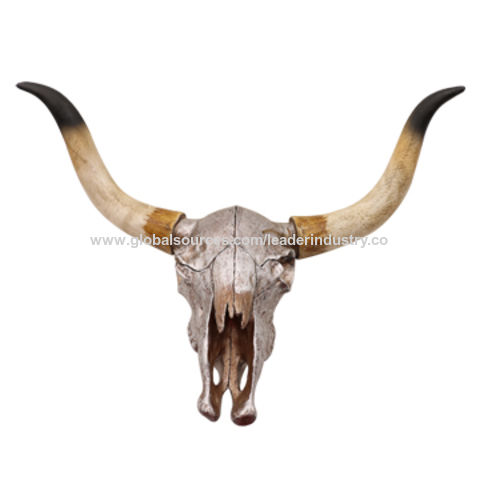 China New Resin Animals Skull Bull Head Decorative Wall Art For And Home Decoration