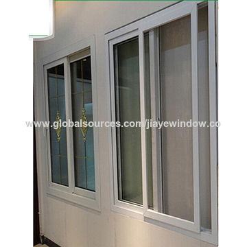 China Upvc Sliding Glass Window With Grill Design On Global Sources