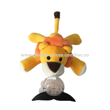 Soft Plush Universal Pacifier Holder Lion Animal Toy For Baby