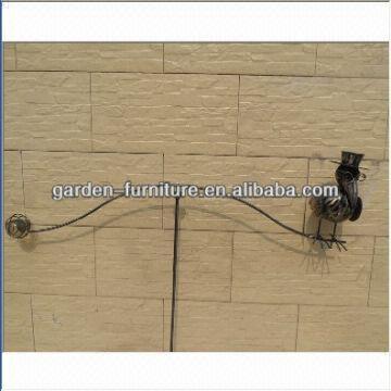 Metal Garden Balancers Crow In Cap Design Balance Stake 37x56