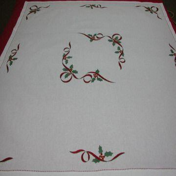Vietnam Hand Embroidery Table Cloth Material 100 Cotton More Size Design