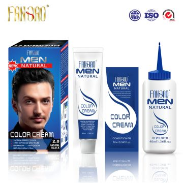 Men Natural Looking Permanent Hair Color Cream with Black ...