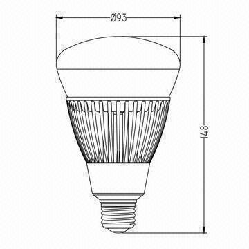 Dimmable E27/E26 LED Bulb with UL Mark and 9W Power Consumption