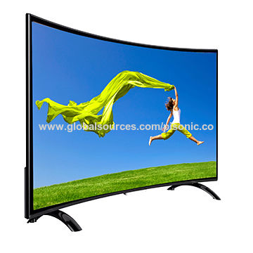 55-inch curved TV China from Zhuhai Manufacturer: Pisonic Electronic