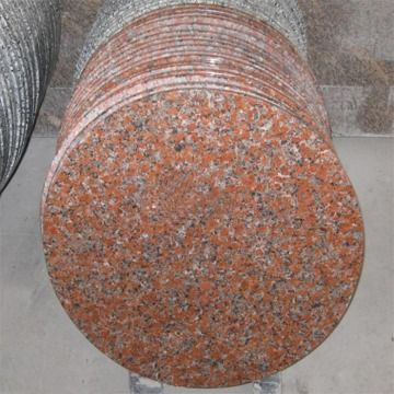 China Mapple Red Round Granite Dining Tables, Table Tops