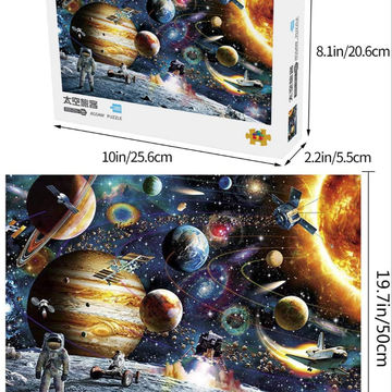 1000 Piece Jigsaw Puzzle Kids Adult Planets in Space Jigsaw Puzzle Fun Toys
