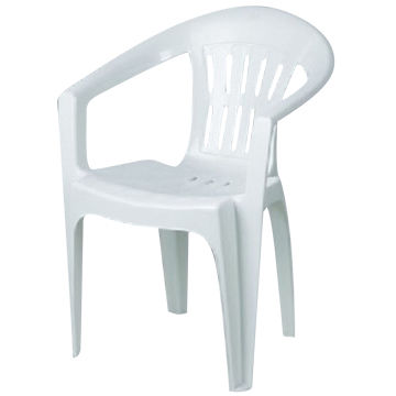 China White Plastic Dining Chair With Arm For Restaurants Customized Colors Are Accepted