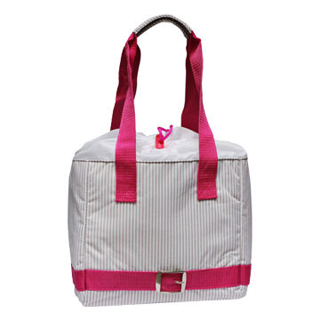 China Ladies' Lunch Bag, Made of Polyester with Striped