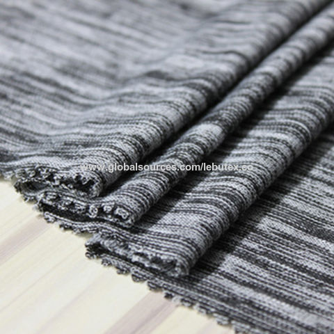 China Grey circular knit fabric for garment wholesale on