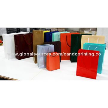 China Eco-friendly paper shopping bag, customized print and size