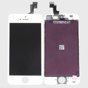 LCD Touchscreen Digitizer for iPhone 5S, Black/White + Ear Speaker Mesh + Camera Bracket