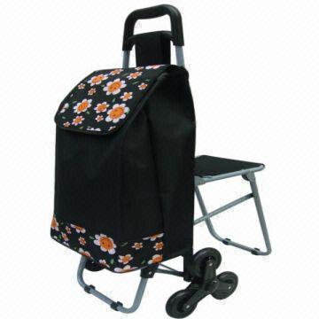 63434e0def27 6 Wheels Shopping Chair Trolley/shopping Cart/luggage Cart with ...