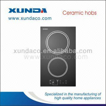 China 2 Ring Electric Glass Cooktop Ceramic Hob