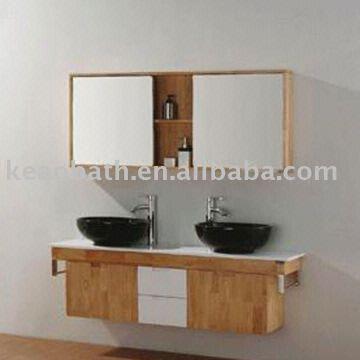 ... China Double Wash Basin Bathroom Cabinet/bathroom Cabinet/solid Wood  Bathroom Cabinet