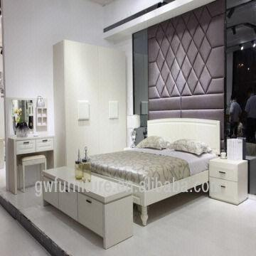 White Colour Modern Style Wood Italian Bedroom Furniture | Global ...