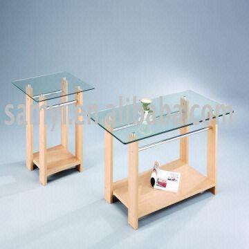 Wood Glass Coffee Table Tempered Glass Tabletop PB Shelf - Pb coffee table