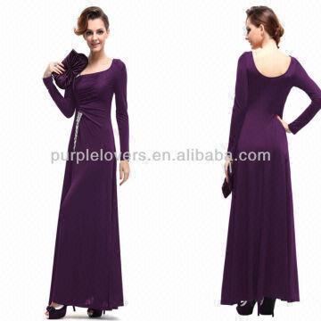Ladies Formal Dresses Purple Colour