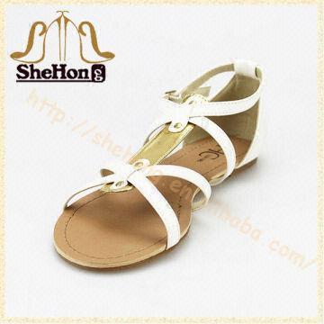 baf72c0697aaf ... China 2014 New fashion model girls flat sandals design