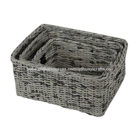China Paper Storage Basket,storage Bin, Suitable For Home Use,Fashion  Design ...