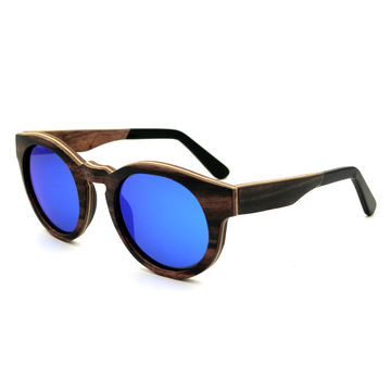 China Wholesale handmade laminated wooden sunglasses with acetate tip