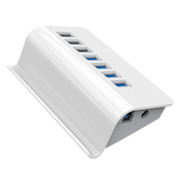 Lot of 10 WHOLESALE Top Global USB 2.0 Powered 4-Port Hub w// Power Adapter