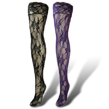 f4d5c79cb97 Taiwan Lace Textured Over Knee Pantyhose Stockings