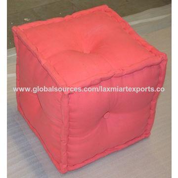India Soft Pouf Ottoman from Jodhpur Trading Company: Laxmi Art Exports