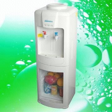 China Cold And Hot Water Dispenser/Water Cooler With 20L Clear Door Fridge,