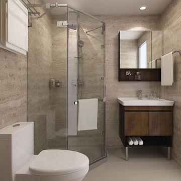 Huida China Manufacturer Power Saving, Modular Bathroom Designs