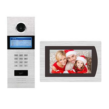 TCP/IP/SIP apartment video intercom system support smart phone ...