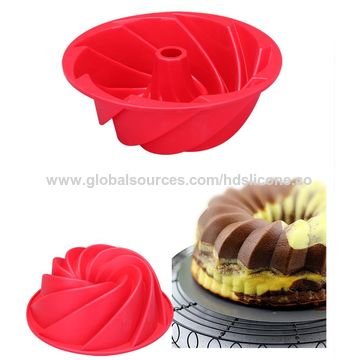 China Spiral Silicone Cake Mold