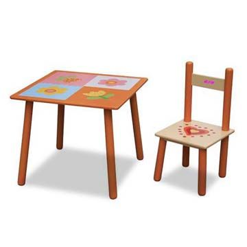 China Children\'s Table and Chair, Made of Solid Wood, Various Wooden ...