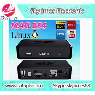 Mag 254 Linux SET TOP BOX MAG254 IPTV Box support Europe IPTV Code