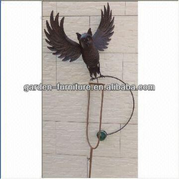 ... China Double Pronged Balance Stakes Flying Owl Balancer Garden Decor  15x5.5x70.75