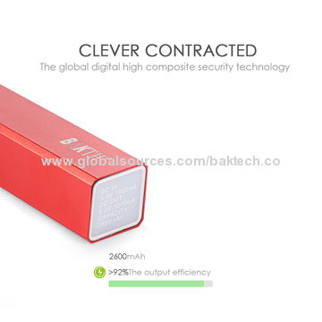 Light power bank with 2600mAh capacity