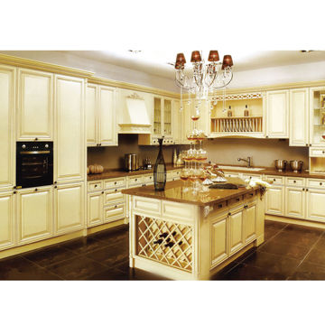 China Solid Birch Ivory White RTA Kitchen Cabinet With Plywood Carcass And  Raised Cabinet Door