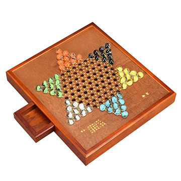China Chinese Checkers Game Set With Glass Marbles And 106 Inch