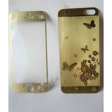 timeless design 48ead 74a3f Gold/Silver butterfly 3D Tempered Glass Screen Protector / 9H ...
