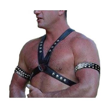 Pakistan Male Sexy Leather Body Harness Chest Belt Straps Arm Binders Men  Goth Gothic Hot