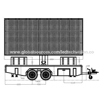 China P6 trailer outdoor LED display screen for advertising