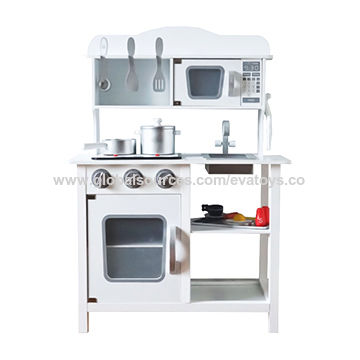 China 2019 Newly Released Kids White Wooden Play Kitchen Set With Electronic Stove W10c045 On Global Sources Toy Kitchen Kitchen Play Set Toy Kitchen Play Set