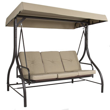 3 Seater Patio Canopy Swing Chair Bed, Patio Bed Swing