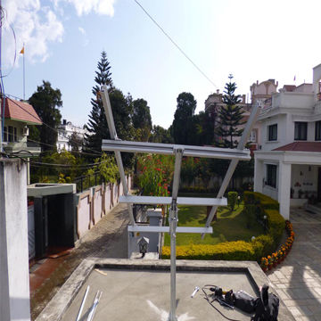 China Solar PV Pole Ground Mounting Racking/Panel System with Hot-dipped Galvanized Steel